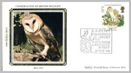 1986 BS13 Barn Owl Owlsmoor Camberley Ltd Edition small silk cover refF10 Cover in very good condition. Please see larger photo for details.