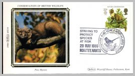 1986 BS14 Pine Marten Romsey Hants Naturalists Trust Ltd Edition small silk cover refF11 Cover in very good condition. Please see larger photo for details.
