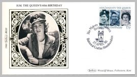 1986 BS10 Her Majesty The Queen' 60th Birthday Balmoral Crathie Ltd Edition small silk cover refF12 Cover in very good condition. Please see larger photo for details.