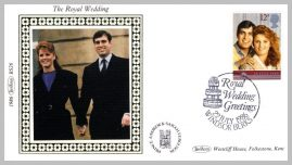 1986 BS26 Royal Wedding Windsor Prince Andrew Ltd Edition small silk cover refF16 Cover in very good condition. Please see larger photo for details.