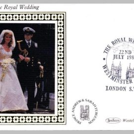 1986 BS28 Royal Wedding Prince Andrew Westminster Abbey Ltd Edition small silk cover refF17 Cover in very good condition. Please see larger photo for details.