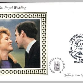 1986 BS27 Royal Wedding Miss Sarah Ferguson HRH Prince Andrew Dummer Ltd Edition small silk cover refF18 Cover in very good condition. Please see larger photo for details.