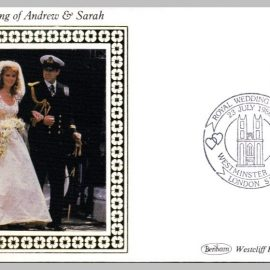 1986 Wedding of Andrew & Sarah Westminster Abbey Ltd Edition small silk cover refF19 Cover in good condition. Please see larger photo for details.