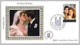 1986 BS29 Royal Wedding Andrew & Sarah Westminster Abbey Ltd Edition small silk cover refF20 Cover in good condition. Please see larger photo for details.
