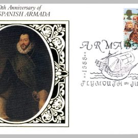 1988 BS22 400th Anniversary of Spanish Armada Plymouth Ltd Edition small silk cover refF25 Cover in very good condition. Please see larger photo for details.
