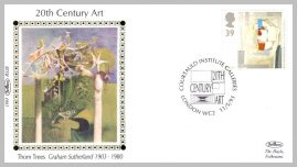 1993 BS28 20thC ART Graham Sutherland Courtauld Institure Galleries Ltd Edition small silk cover refF27 Cover in very good condition. Please see larger photo for details.