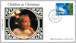 1987 BS30 Children at Christmas Bethlehem Church Ltd Edition small silk cover refF31 Cover in very good condition. Please see larger photo for details.