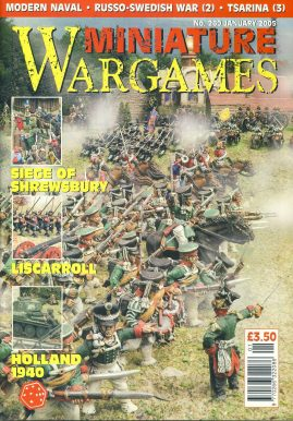Miniature WARGAMES #260 Siege of Shrewsbury LISCARROLL Holland 1940 MODERN NAVAL Russo-Swedish War (2) TSARINA (3) magazine ref101373 Pre-owned in very good condition. Magazine ONLY