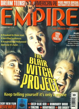 EMPIRE magazine NOV 1999 BLAIR WITCH PROJECT ref10117 Pre-owned in very good clean condition. Please see larger photo and full description for details.