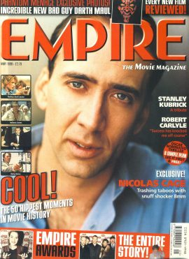EMPIRE magazine MAY 1999 Nicholas Cage ref10119 Pre-owned in very good clean condition. Please see larger photo and full description for details.