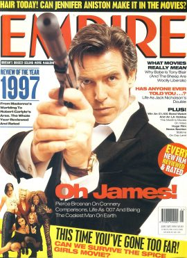 EMPIRE magazine JAN 1998 Pierce Brosnan 007 BOND ref10122 Pre-owned in very good clean condition. Please see larger photo and full description for details.