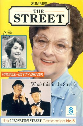 The Coronation Street Companion Magazine 32 pages No.5 1990 profile BETTY DRIVER ref101482 Measure approx 15cm x 23cm Very Good Condition. This listing is for the Magazine ONLY. Sorry no extras
