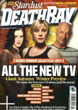 DEATHRAY Sci-Fi mag Nov 2007 Bionic Woman
