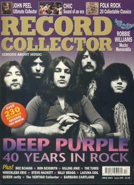 RECORD COLLECTOR Xmas 2004 magazine #305 DEEP PURPLE ref101494 Very Good Condition. This listing is for the Magazine ONLY. Sorry no extras