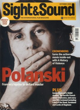 SIGHT & SOUND October 2005 magazine POLANSKI ref101495 Very Good Condition. This listing is for the Magazine ONLY. Sorry no extras