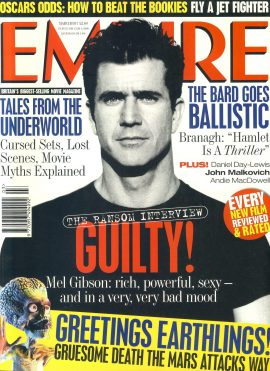EMPIRE magazine March 1997 Mel Gibson ref1001 Pre-owned in very good clean condition. Please see larger photo and full description for details.