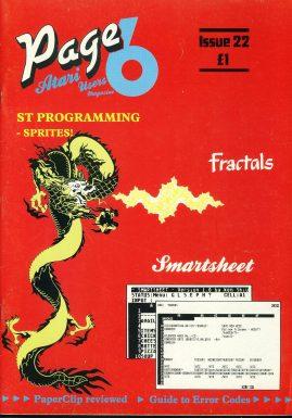 ATARI Page 6 #22 computer magazine Fractals