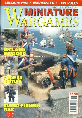 Miniature WARGAMES #246 IRELAND INVADED 3 Roman Battles RUSSO-FINNISH WAR Belgium WWI WARMASTER ECW Rules magazine ref101337 Pre-owned in very good condition. Magazine ONLY