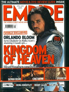 EMPIRE magazine APRIL 2005 Orlando Bloom KINGDOM OF HEAVEN ref100161 Pre-owned in very good clean condition. Please see larger photo and full description for details.