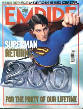 EMPIRE magazine FEB 2006 SUPERMAN Brandon Routh ref100166 Pre-owned in very good clean condition. Please see larger photo and full description for details.