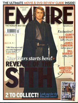 EMPIRE magazine March 2005 Hayden Christensen Revenge of SITH Star Wars ref100170 Pre-owned in very good clean condition. Please see larger photo and full description for details.