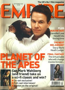 EMPIRE magazine SEPT 2001 Mark Wahlberg Planet of the Apes ref100178 Pre-owned in very good clean condition. Please see larger photo and full description for details.