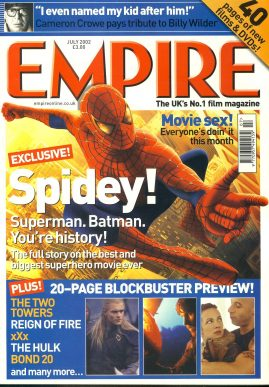 EMPIRE magazine JULY 2002 Spiderman ref100180 Pre-owned in very good clean condition. Please see larger photo and full description for details.
