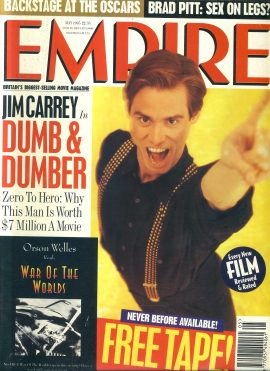 EMPIRE magazine MAY 1995 Jim Carrey Dumb & Dumber ref100187 Pre-owned in very good clean condition. Please see larger photo and full description for details.