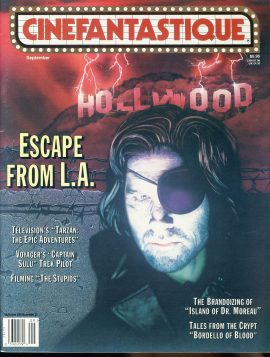 CINEFANTASTIQUE magazine 1996 Escape from L.A. Island of Dr Moreau ref100384 Science Fiction