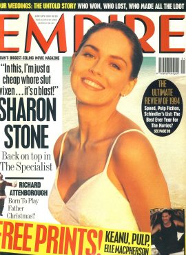EMPIRE magazine JAN 1995 Sharon Stone