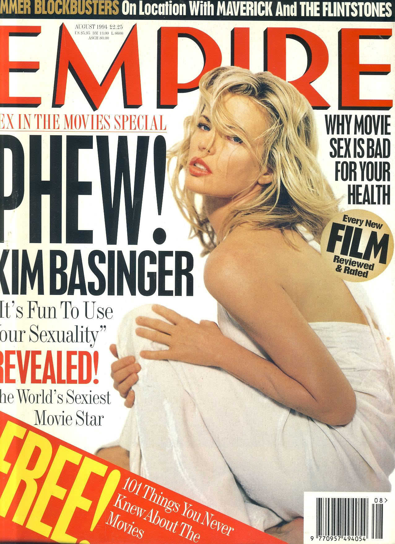 EMPIRE magazine AUG 1994 Kim Basinger ref100193 Pre-owned in good condition. Please see larger photo and full description for details.