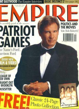 EMPIRE magazine OCT 1992 Harrison Ford