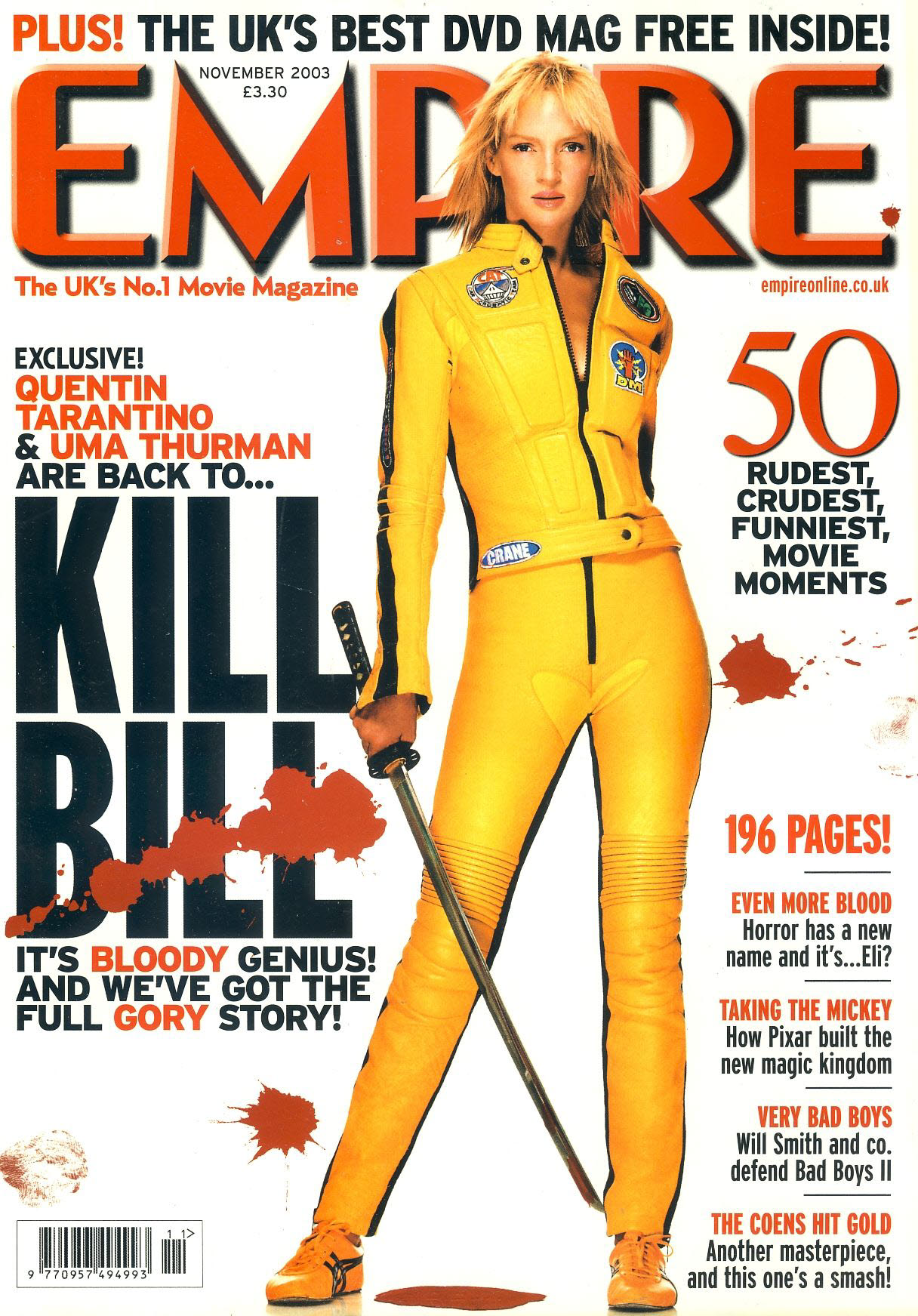 EMPIRE magazine NOV 2003 Uma Thurman