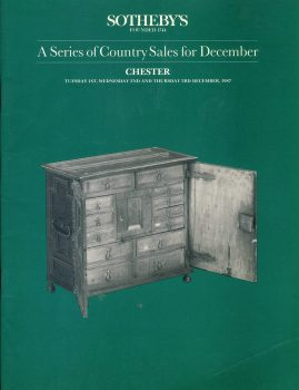 Sotheby's CHESTER 1987 Country Sales for December catalogue ref101504 Very Good Condition. This is a pre-owned item. Some price notes. Good reference source.