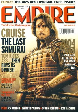 EMPIRE magazine FEB 2004 The Last Samurai Tom Cruise ref100207 Pre-owned in very good clean condition. Please see larger photo and full description for details.