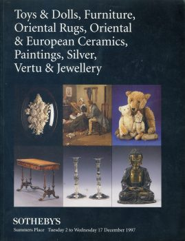 Sotheby's 1997 Auction Catalogue Toys