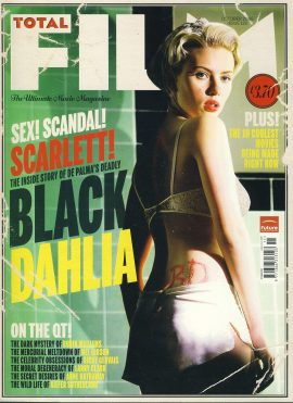 TOTAL FILM magazine #120 2006 BLACK DAHLIA Scarlett Johannson ref101061 Pre-owned in very good condition. Magazine ONLY