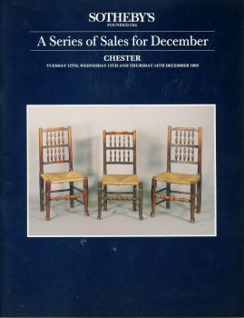 Sotheby's CHESTER 1989 auction catalogue 63 pages DECEMBER ref101508 Very Good Condition. This is a pre-owned item. Good reference source.