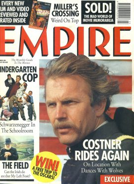 EMPIRE magazine March 1991 Kevin Costner