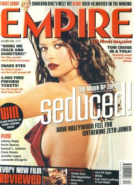 EMPIRE magazine DEC 1999 Cathering Zeta-Jones ZORRO ref100213 Pre-owned in good condition for age. Please see larger photo and full description for details.