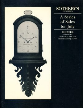 Sotheby's CHESTER 1987 July auction sales catalogue 62 pages ref101511 Very Good Condition. This is a pre-owned item. Some pen notes. Good reference source.