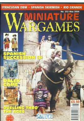 Miniature WARGAMES #252 Spanish Succession (3) DALEK GAME Syracusan DBM Rio Grande magazine ref101384 Pre-owned in good condition. Magazine ONLY
