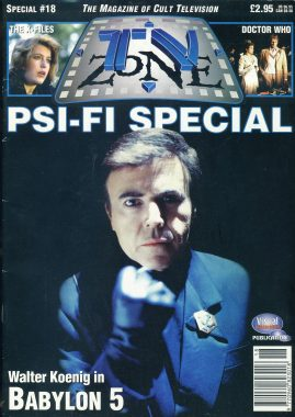 TV Zone Cult Television magazine No.18 PSI-FI SPECIAL Walter Koenig BABYLON 5 ref100218  Pre-owned in very good condition. Please see larger photo and full description for details.