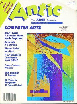 Antic ATARI magazine JUNE 1985 computer arts