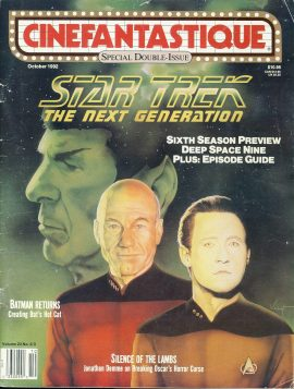 CINEFANTASTIQUE magazine 1992 STAR TREK Next Generation DATA ref100388 Science Fiction
