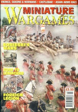 Miniature WARGAMES #250 SOBIESKI'S WARS Road to Leningrad FOREIGN LEGION Vinkings Saxons Normans ASIAN ARMS RACE magazine ref101385 Pre-owned in very good condition. Magazine ONLY