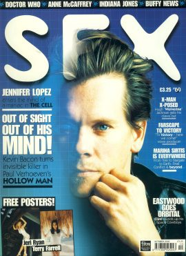 SFX magazine #69 Kevin Bacon HOLLOW MAN Jennifer Lopex THE CELL  ref101085 Pre-owned in very good condition. Magazine ONLY