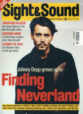 Sight & Sound Film Magazine Nov 2004 Johnny Depp ref100235 Pre-owned in very good condition. Please see larger photo and full description for details.