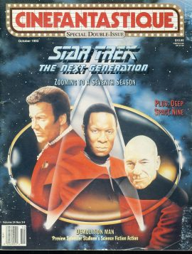 CINEFANTASTIQUE magazine 1993 STAR TREK The Next Generation DS9 ref100389 Science Fiction