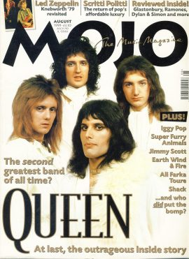 MOJO Music magazine August 1999 QUEEN ref101536 Good Condition. This is a pre-owned item with some marks